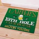 19th Hole Personalized Golf Welcome Door Mat