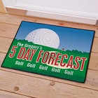 Golf Forecast Personalized Golf Welcome Door Mat
