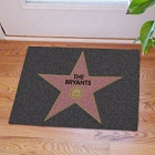 Walk of Fame Star Personalized Welcome Door Mat