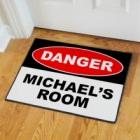 Personalized Danger Doormat