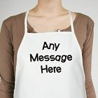 Any Message Crazy Font Personalized Apron