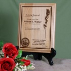 Personalized Military Memorial Wood Plaques