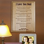 Fathers Poem Personalized Wood Plaque