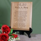 In Loving Memory Personalized Memorial Wood Plaques