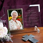 In Loving Memory Personalized Beveled Glass Picture Frames
