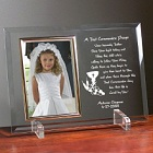 First Communion Personalized Beveled Glass Picture Frame
