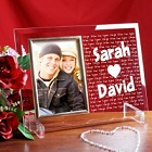 I Love You Beveled Glass Picture Frame