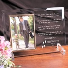 Following In Your Footsteps Personalized Beveled Glass Picture Frames