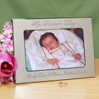 Personalized Silver Christening Day Picture Frames