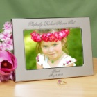 Perfectly Picked Flower Girl Engraved Silver Picture Frames