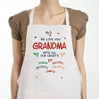 All Our Hearts Personalized Grandma Kitchen Aprons