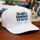 World's Greatest Dad Personalized Fathers Day Hats