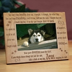 Loyal Dog Personalized Wood Picture Frame
