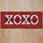 Hugs and Kisses Personalized Wall Canvas