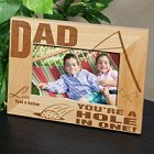 A Hole In One Personalized Wood Golf Picture Frame