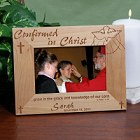 Confirmed in Christ Personalized Confirmation Wood Picture Frame