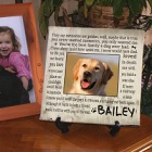 Until the End Pet Memorial Personalized Wall Canvas