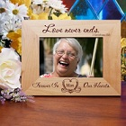 Love Never Ends Personalized Memorial Wood Picture Frames
