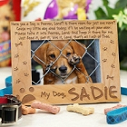 Dog in Heaven Personalized Pet Memorial Picture Frames