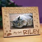 Cat in Heaven Personalized Memorial Picture Frames