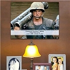 Custom Printed Military Picture Remembrance Wall Canvas