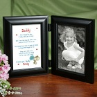 I Love You Daddy Personalized Black Bi-Fold Picture Frames