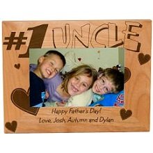 Number One Uncle Personalized Wood Picture Frames