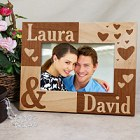 Just the Two of Us Personalized Wood Picture Frame