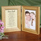 To My Dad Natural Wood Personalized Bi-Fold Picture Frames