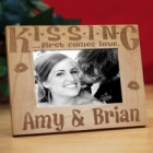 K-I-S-S-I-N-G Personalized Wood Picture Frame