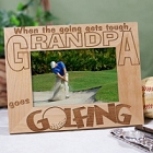 Go Golfing Personalized Wood Golf Picture Frame