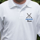 Gone Fishing Personalized Fishing Polo Shirt