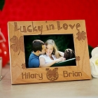 Lucky in Love Personalized Wood Picture Frame