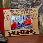 Go Hunting Personalized Wood Picture Frame