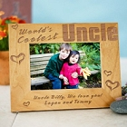 World's Coolest Uncle Personalized Uncle Wood Picture Frames