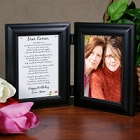 To My Daughter Personalized Bi-Fold Picture Frame