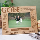 Golfer Personalized Wood Golf Picture Frame