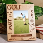 Golfer Personalized Vertical Wood Golf Picture Frames