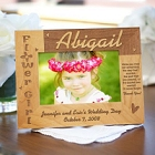 Flower Girl Personalized Wood Picture Frames