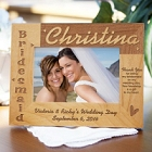 Personalized Bridesmaid Wood Picture Frames