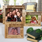Laser Engraved 8x10 Bridesmaid Wood Picture Frames
