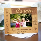 Maid of Honor Personalized Wood Picture Frame