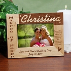Matron of Honor Personalized Wood Picture Frame