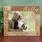 Personalized Uncle 8x10 Wood Picture Frames
