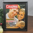 Personalized Couples Magazine Cover Picture Frame