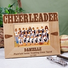 Personalized Cheerleading Wood Picture Frames