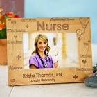 Registered Nurse Personalized Wood Picture Frames