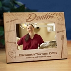 Personalized Dentist Wood Picture Frames