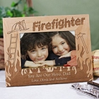 Personalized Firefighter Wood Picture Frames