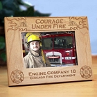 Personalized Fire Department Wood Picture Frames